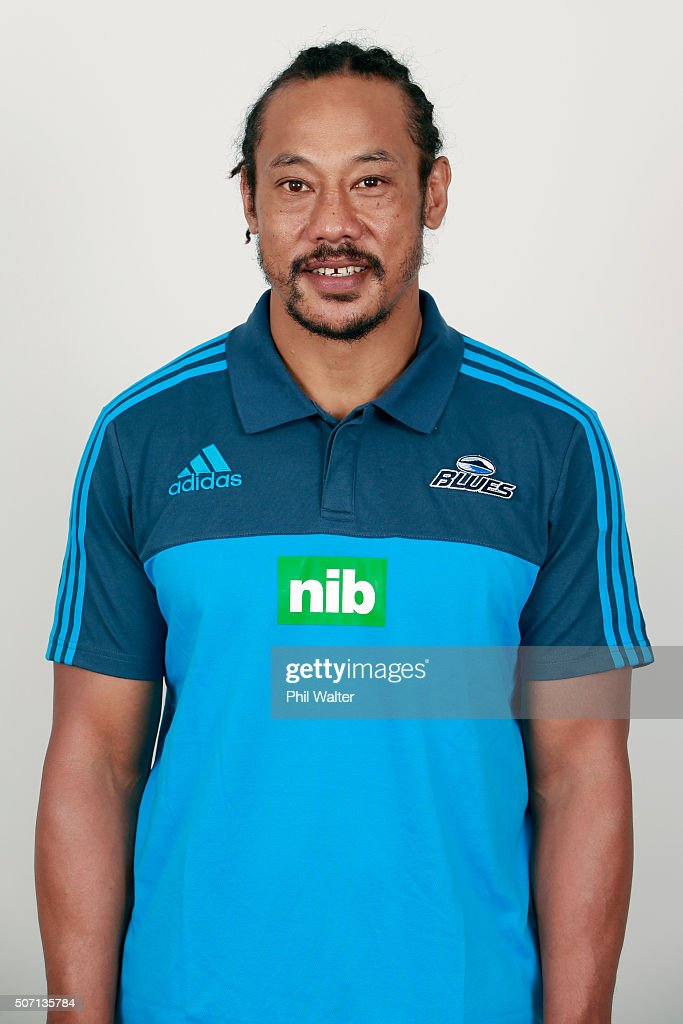 Blues coach <a gi-track='captionPersonalityLinkClicked' href=/galleries/search?phrase=Tana+Umaga&family=editorial&specificpeople=203218 ng-click='$event.stopPropagation()'>Tana Umaga</a> during the Auckland Blues 2016 Super Rugby headshots session on January 27, 2016 in Auckland, New Zealand.