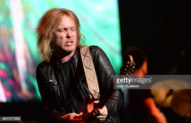 Blues guitar player Kenny Wayne Shepherd performs onstage during the Experience Hendrix concert at The Wiltern on March 1 2017 in Los Angeles...