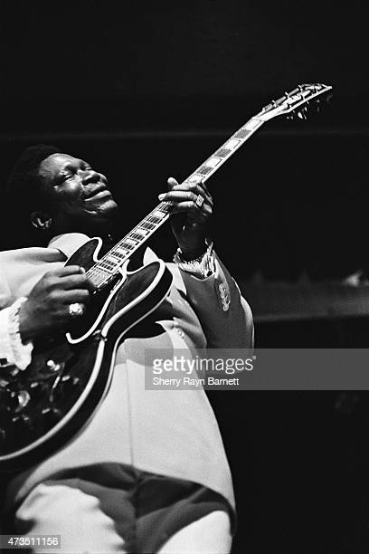 Blues guitarist and singer B B King performs at the Brooklyn Academy of Music in 1970 in New York City New York