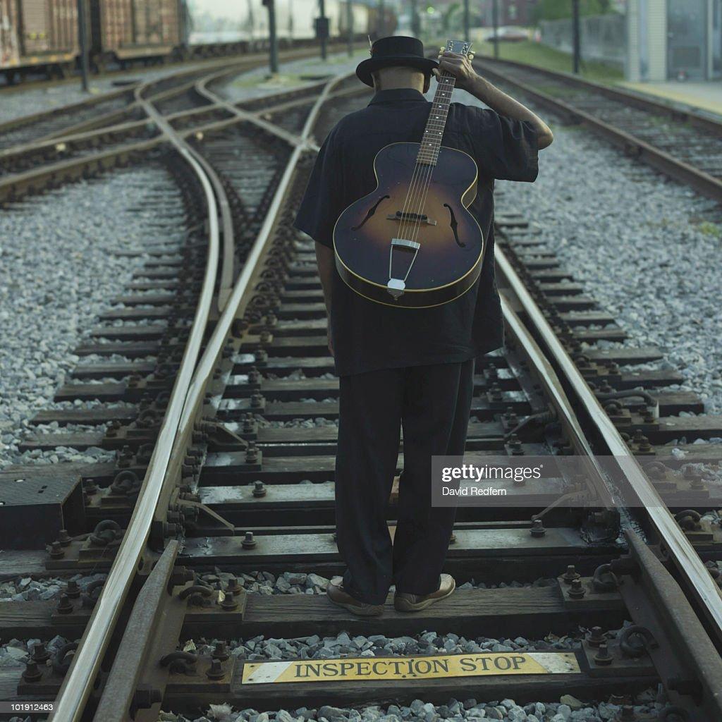 Blues Guitarist : Stock Photo