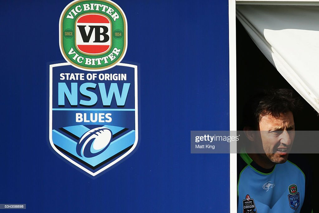 Blues head coach Laurey Daley prepares during a New South Wales State of Origin training session on May 26, 2016 in Coffs Harbour, Australia.