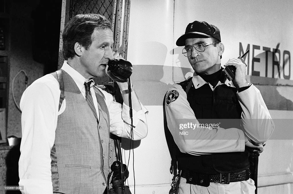 BLUES --'Blues in the Night' Episode 601 -- Pictured: (l-r) Daniel J. Travanti as Captain Frank Furillo, James B. Sikking as Lt. Howard Hunter --