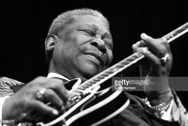 Blues legend BB King performs February 17 2002 at the House of Blues in Las Vegas NV