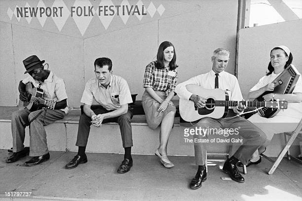 Blues musician Robert Pete Williams and members of the Kentuckian country music group The Phipps Family including Arthur Leroy Phipps and Kathleen...
