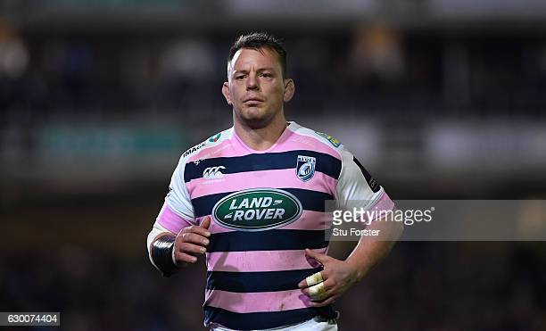 Blues player Matthew Rees in action during the European Rugby Challenge Cup match between Bath Rugby and Cardiff Blues at the Recreation Ground on...
