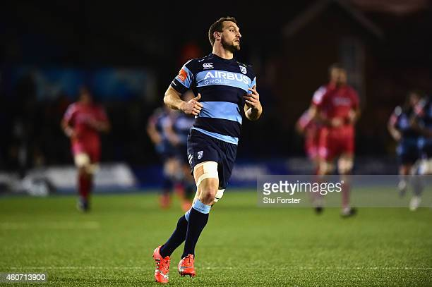 Blues player Sam Warburton in action during the Guinness Pro 12 match between Cardiff Blues and Scarlets at on December 19 2014 in Cardiff United...