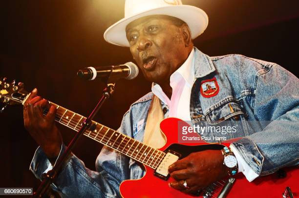 Blues / rb singer and guitarist Eddy Clearwater performs at the Chicago Blues Festival JUNE 12 2016 in Chicago Illinois