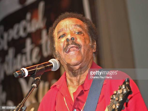 Blues / rb singer and guitarist Jimmy Johnson performs at the Chicago Blues Festival JUNE 12 2016 in Chicago Illinois