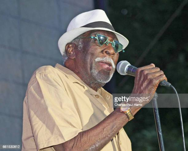 Blues / rb tenor saxophonist and songwriter Eddie Shaw performs at the Chicago Blues Festival JUNE 12 2016 in Chicago Illinois