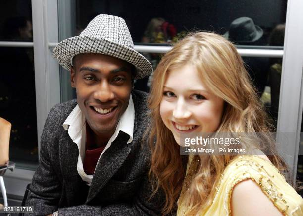 Blue's Simon Webbe and a female companion attend the 40th birthday of one of London's most iconic buildings the BT Tower which hosted an exclusive...