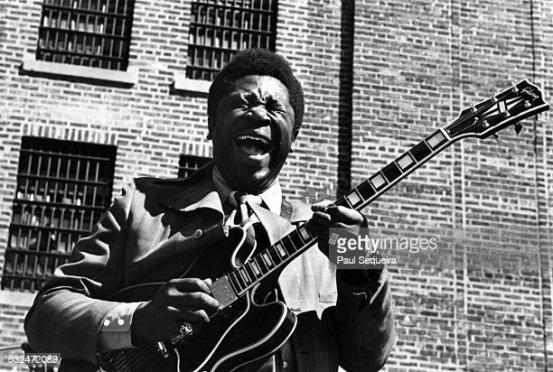 Blues singer and guitarist BB King performs at the Cook County Jail Chicago Illinois 1971