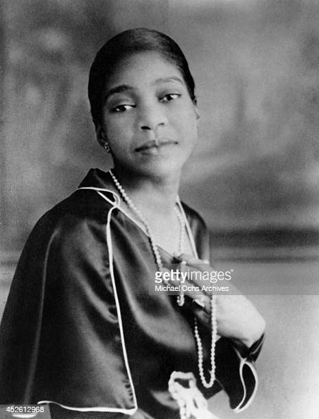 Blues singer Bessie Smith poses for a portrait circa 1920