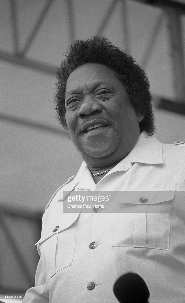 Blues singer Bobby Bland performs live at the New Orleans JazzFest on April 30 1989 in New Orleans Loisiana