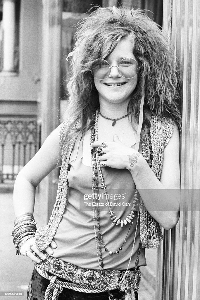 Blues singer Janis Joplin on the roof garden of the Chelsea Hotel in June 1970 in New York City, New York.
