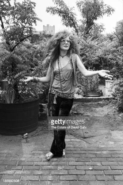 Blues singer Janis Joplin on the roof garden of the Chelsea Hotel in June 1970 in New York City New York
