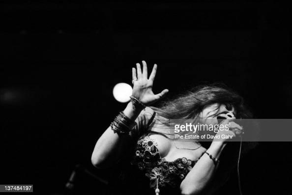 Blues singer Janis Joplin performs at the Newport Folk Festival in July 1968 in Newport Rhode Island