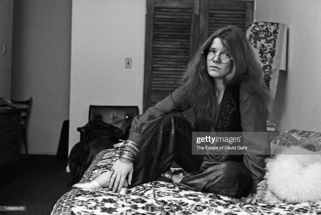 Blues singer Janis Joplin poses for a portrait on March 14, 1969 at the Hotel Chelsea in New York City, New York.