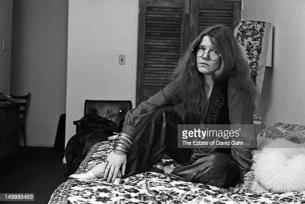 Blues singer Janis Joplin poses for a portrait on March 14 1969 at the Hotel Chelsea in New York City New York