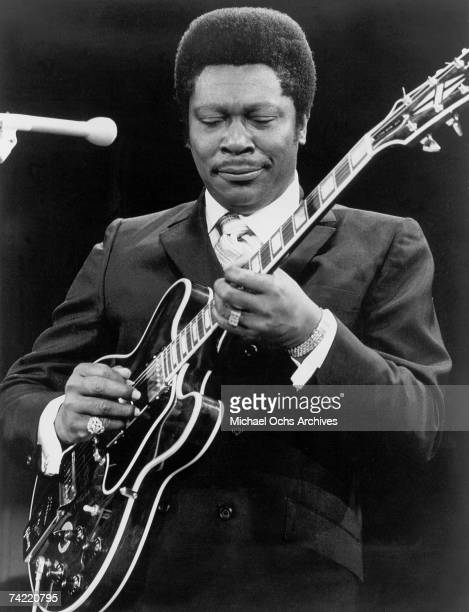 Blues Singer/Guitarist BB King performs during a 1960's concert