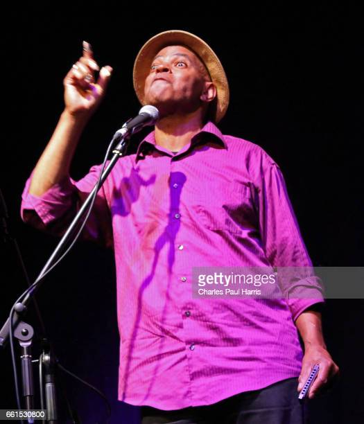 Blues songwriter singer and guitarist Guy Davis performs on AUGUST 18 2016 at Connaught Studio Worthing West Sussex England