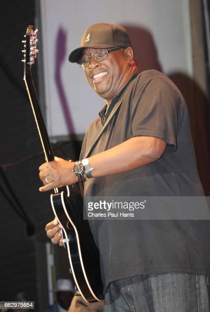 Blues songwriter singer and guitarist Mike Wheeler performs at the Chicago Blues Festival JUNE 12 2016 in Chicago Illinois