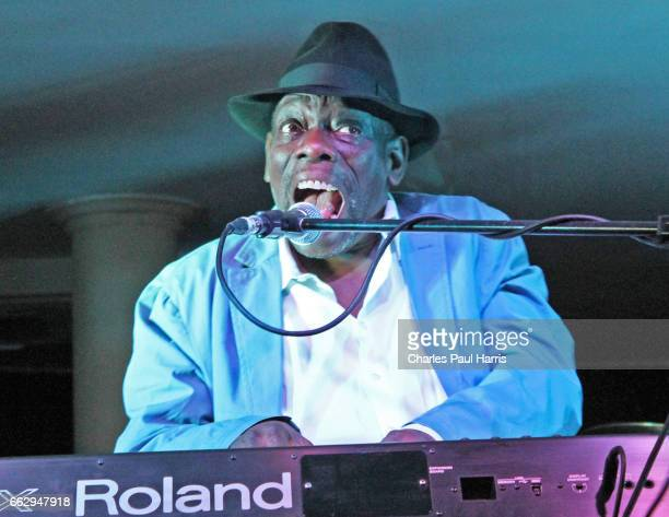 Blues songwriter singer keyboard player and guitarist Lucky Peterson performs on JULY 27 2016 at the Southern Pavilion Worthing Pier Worthing West...
