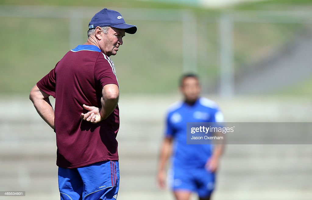 Blues Technical Advisor Sir Graham Henry during a Blues Super Rugby training session at Unitec on January 28, 2014 in Auckland, New Zealand.