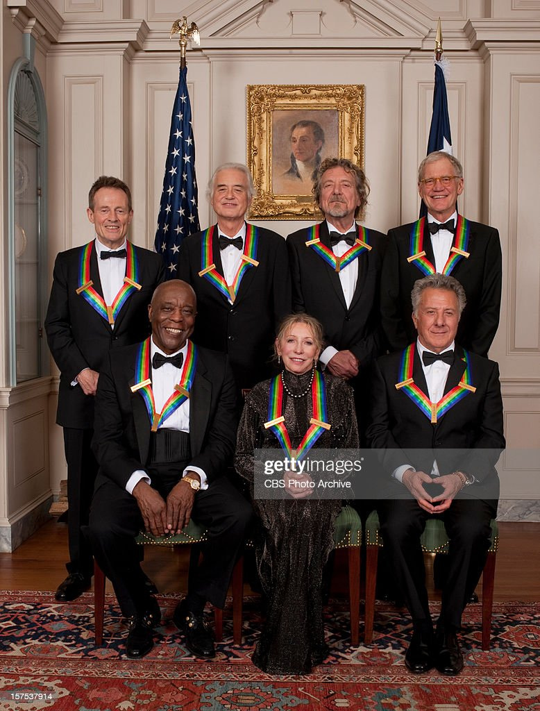 HONORS -- (front row left to right) Bluesman Buddy Guy, ballerina Natalia Makarova, actor Dustin Hoffman, (Standing left to right) rock band Led Zeppelin and comedian and television host David Letterman will receive honors for 2012 on THE 35TH ANNUAL KENNEDY CENTER HONORS, to be broadcast Wednesday, Dec. 26 (9:00-11:00 PM, ET/PT) on the CBS Television Network.