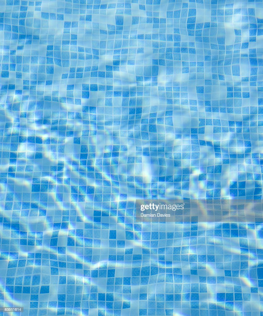 Blue-Tiled Swimming Pool : Stock Photo