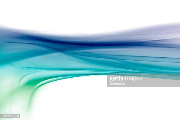 Bluey green swoosh