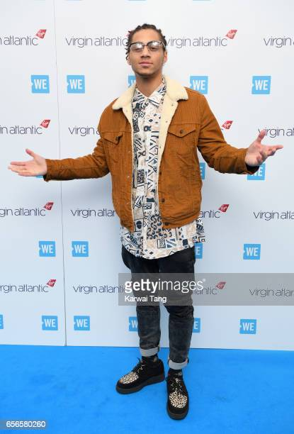 Bluey Robinson attends WE Day UK at The SSE Arena on March 22 2017 in London United Kingdom