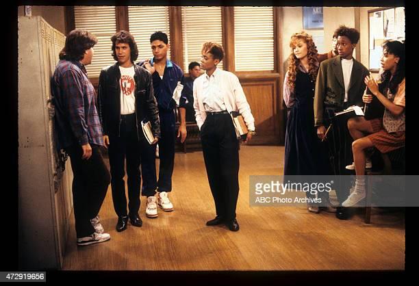 CLASS 'Blunden in Love' Airdate October 25 1989 LR DAN SCHNEIDERBRIAN ROBBINSMICHAEL DELORENZOROBIN GIVENSKHRYSTYNE HAJEDAN FRISCHMANDE