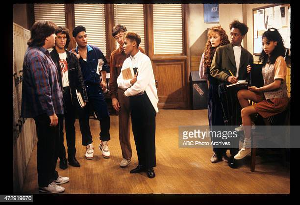 CLASS 'Blunden in Love' Airdate October 25 1989 LR DAN SCHNEIDERBRIAN ROBBINSMICHAEL DELORENZODAN FRISCHMANROBIN GIVENSKHRYSTYNE HAJEDE