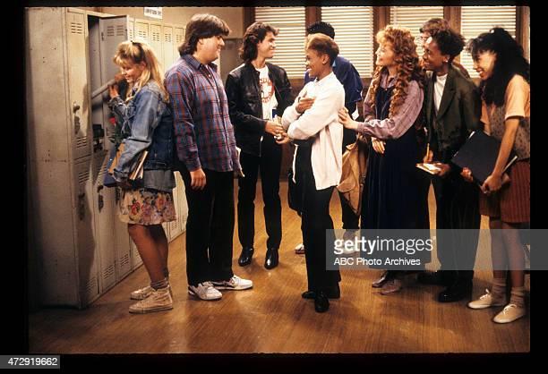 CLASS 'Blunden in Love' Airdate October 25 1989 LR KRISTINE BLACKBURNDAN SCHNEIDERBRIAN ROBBINSROBIN GIVENSMICHAEL DELORENZOKHRYSTYNE HAJEDAN...