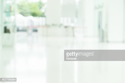 Blur abstract background of the walkway of building office/ silhouettes motion style, blur lobby background. : Stock Photo