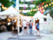 Blur Outdoor Street Market Festival events with people