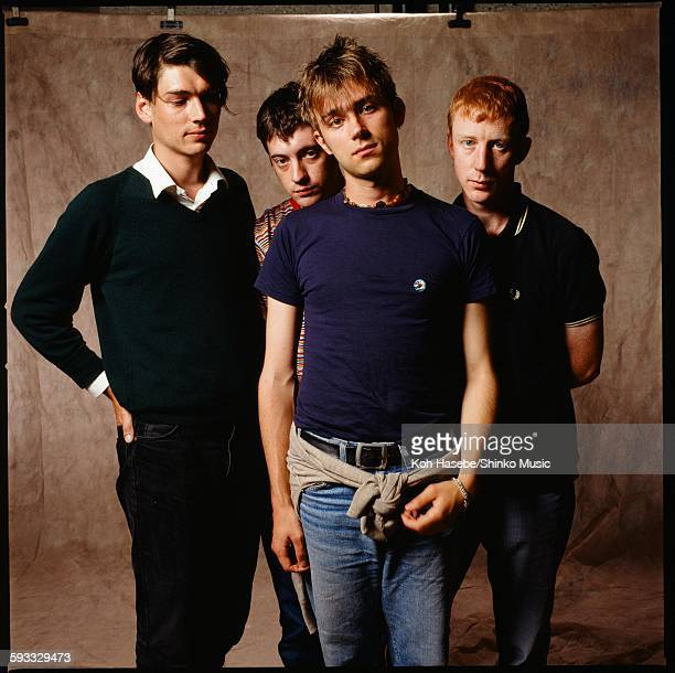 Blur group shot at photo studio in Tokyo November 1994