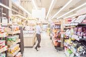 blur image background of convenient store