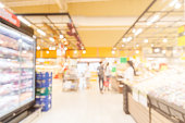 blur image background of supermarket in shopping mall