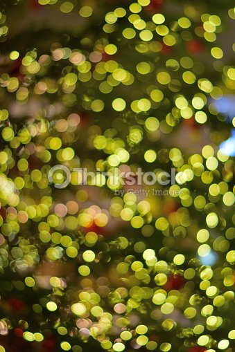 Blur Large Christmas Tree Background Vertical Frame Stock Photo
