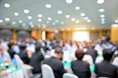 Blur of business Conference and Presentation in the conference hall.