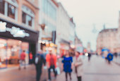 Blur Street background at Oxford, UK
