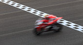 Superbike Crossing Checkered Finish Line, Blur