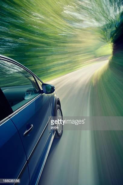 blureed motion car