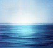 Blurred and deep blue ocean