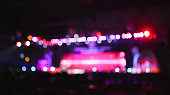Blurred background : Bokeh lighting in concert.