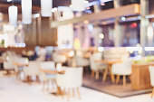 Blurred background : Customer at restaurant blur background with bokeh.