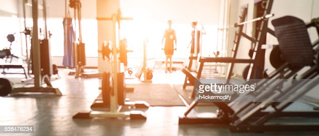 Blurred background of gym. : Stock-Foto