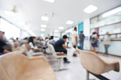Blurred background of patient waiting for see doctor in the hospital.