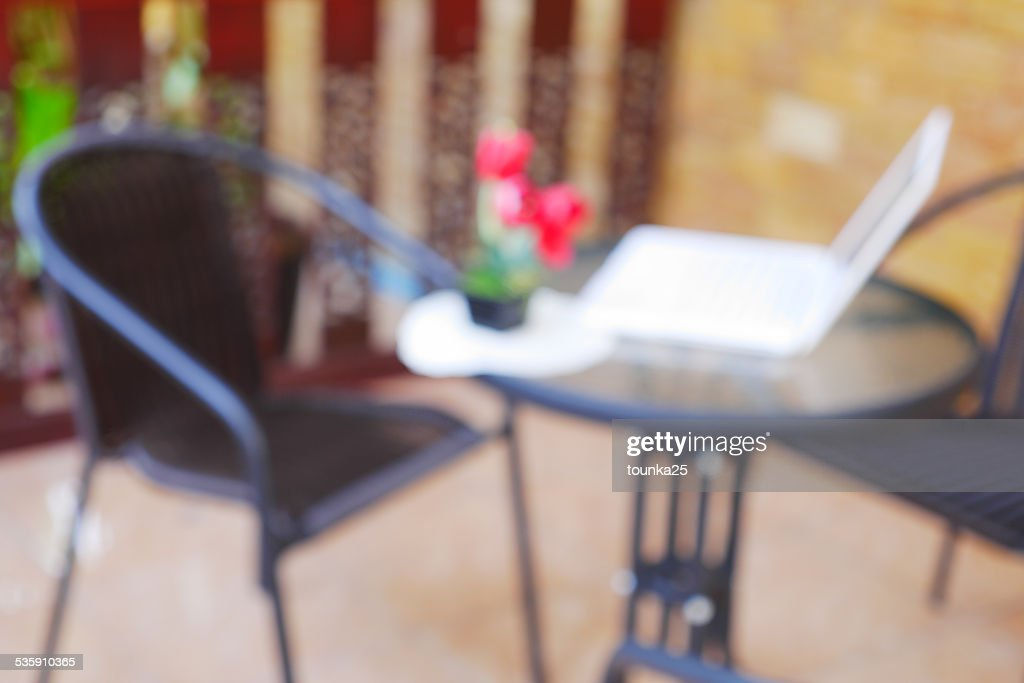 Blurred Background: Outdoor Workspace : Stock Photo